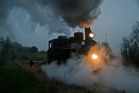 Aftentur i efterårsferien med Halloween-toget