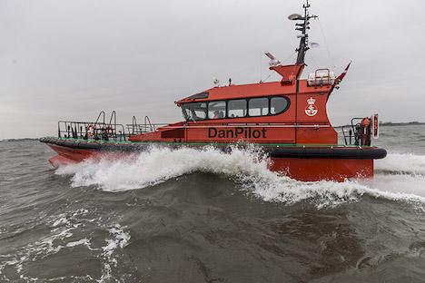 DanPilot døber ny lodsbåd i Randers Havn
