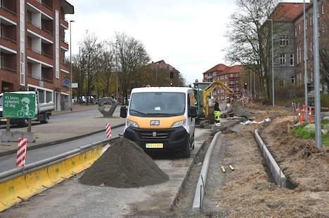 Vejarbejde på Vestervold lukker adgang til Slyngborggade midlertidigt