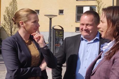 Mette Frederiksen og Malte Larsen på VIA til debat