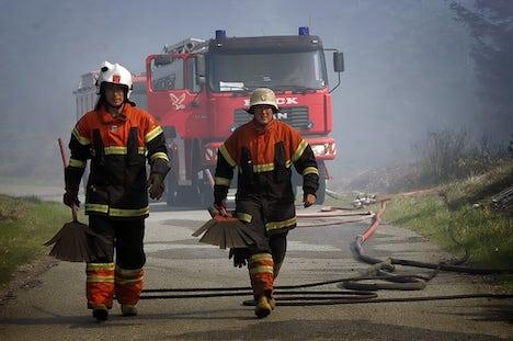 Brand i lastbil