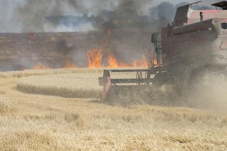 Pas på brand i mejetærskerne under høsten
