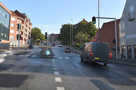 Vejarbejde på Vestervold: Kun ét kørespor i nordgående retning.