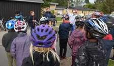 Elever sætter fokus på cykling i Spentrup