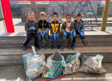 Vi samler affald