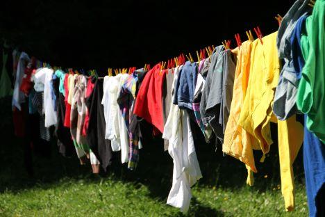 Brand i vasketøjssnor